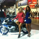 Novembre 2012 - Eicma 4uppermodels per BMW